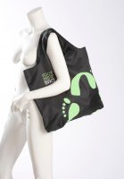 Reusable Shoulder Bag - Footprint Bag Single - Green