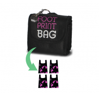 Reusable Bag 4-Pack Footprint Bag - Pink Original
